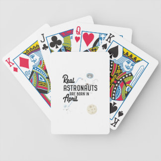 Astronauts are born in April Zg6v6 Bicycle Playing Cards