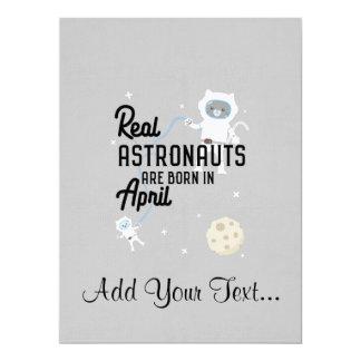Astronauts are born in April Zg6v6 Card