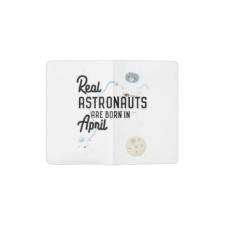 Astronauts are born in April Zg6v6 Pocket Moleskine Notebook