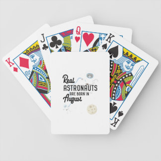 Astronauts are born in August Ztw1w Bicycle Playing Cards