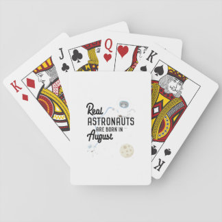 Astronauts are born in August Ztw1w Playing Cards