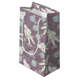 Astronauts in Space Pattern Small Gift Bag