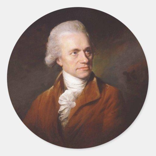 Astronomer Sir Frederick William Herschel Portrait Stickers
