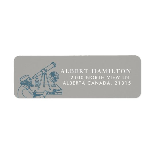Astronomer Vintage Personalised Return Address Label