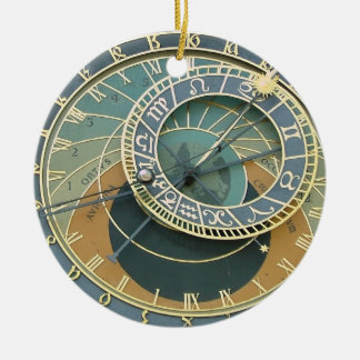 Astronomical Clock Ceramic Ornament