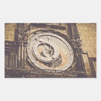 Astronomical Clock in Prague Czech Republic Rectangular Sticker