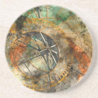 Astronomical clock in Prague, Czech Republic Sandstone Coaster