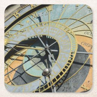 Astronomical Clock in Prague Czech Republic Square Paper Coaster