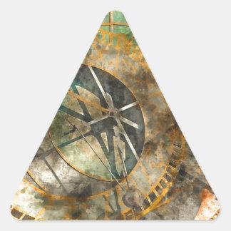 Astronomical clock in Prague, Czech Republic Triangle Sticker