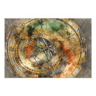 Astronomical clock in Prague Photo Print