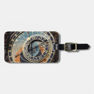 Astronomical Clock In Praque Travel Bag Tags