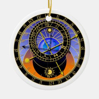 astronomical clock round ceramic decoration