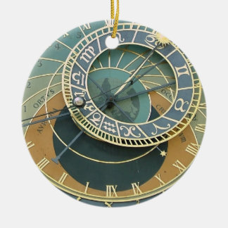 Astronomical Clock Round Ceramic Decoration