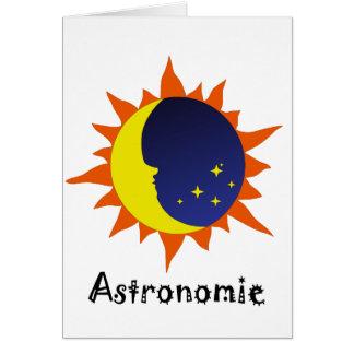 Astronomie Logo Card
