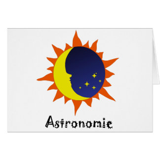 Astronomie Logo Greeting Card