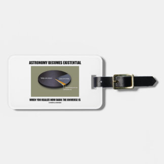 Astronomy Becomes Existential When Realize Dark Luggage Tag