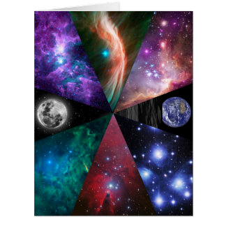 Astronomy Collage Card
