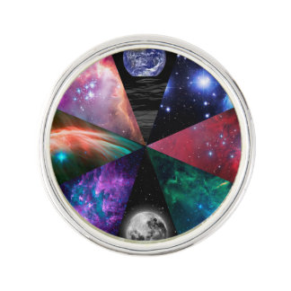 Astronomy Collage Lapel Pin