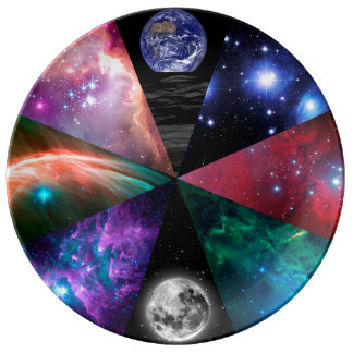 Astronomy Collage Plate