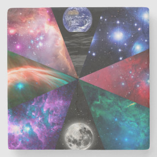 Astronomy Collage Stone Coaster