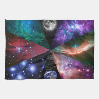 Astronomy Collage Tea Towel