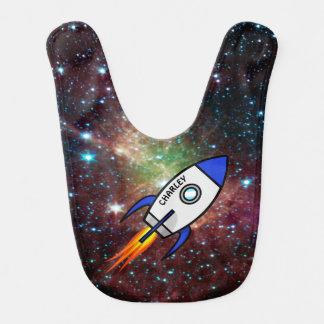 Astronomy custom name and text rocket bib
