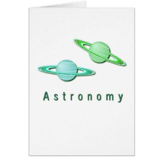 Astronomy Design Greeting Card
