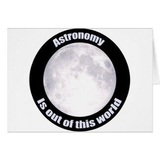 Astronomy Full Moon Greeting Card
