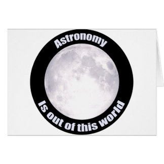 Astronomy Full Moon Greeting Card