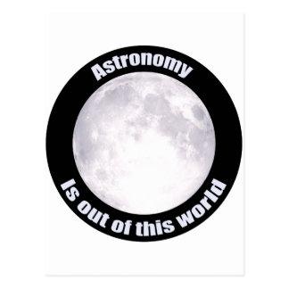 Astronomy Full Moon Postcard