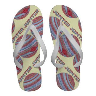 Astronomy Geek Fun Jupiter Men s Beach Shoe Flip-Flops