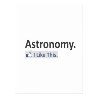 Astronomy...I Like This Post Cards
