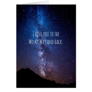 Astronomy Milky Way and Back Anniversary Card