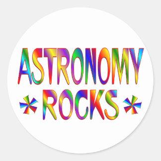 Astronomy Rocks Classic Round Sticker