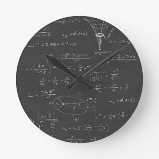 Astrophysics diagrams and formulas wall clock