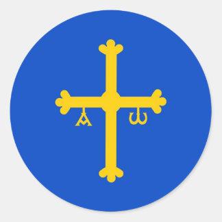 Asturias Classic Round Sticker