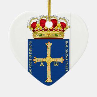 Asturias Coat of Arms (Spain) Ceramic Ornament