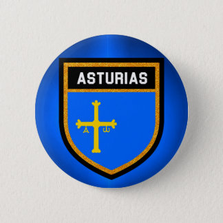 Asturias Flag 6 Cm Round Badge