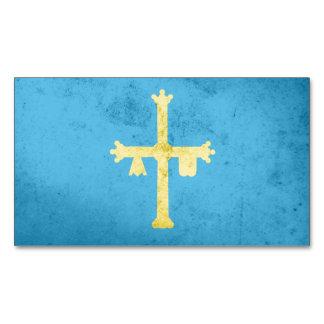 Asturias Flag Magnetic Business Cards