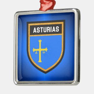 Asturias Flag Metal Ornament