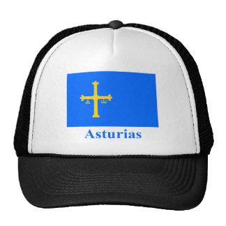 Asturias flag with name hats