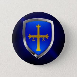 Asturias Metallic Emblem 6 Cm Round Badge