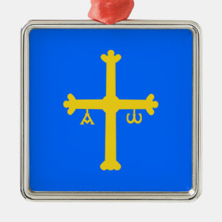 Asturias (Spain) Flag Metal Ornament