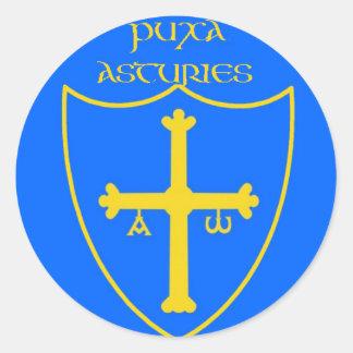 asturies-round classic round sticker