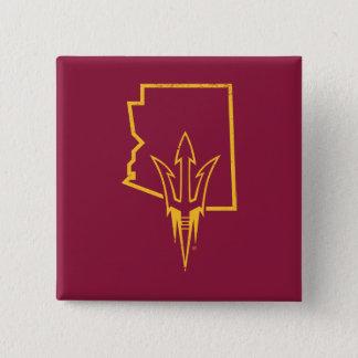 ASU   Classic State Logo 15 Cm Square Badge