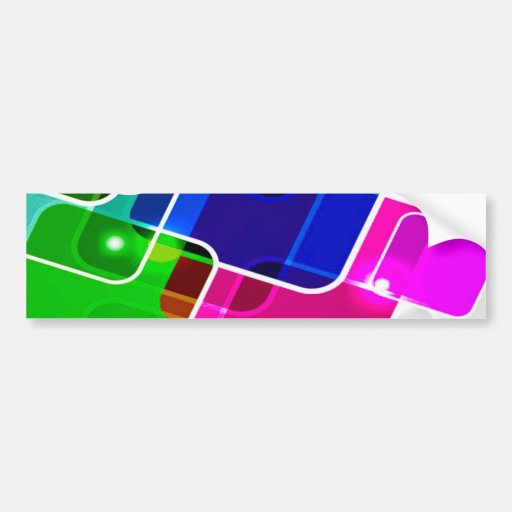 ASVC ABSTRACT RANDOM SQUARES COLLAGE WALLPAPER BAC BUMPER STICKER