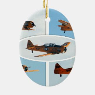AT-6 Texan WWII  War Plane Ceramic Ornament
