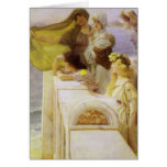 At Aphrodite's Cradle by Sir Lawrence Alma Tadema Greeting Cards