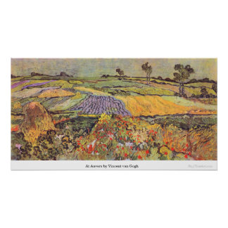 At Auvers by Vincent van Gogh Posters