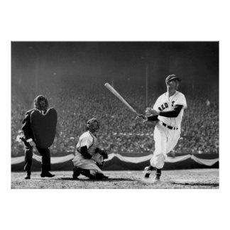 AT BAT TED WILLIAMS POSTER